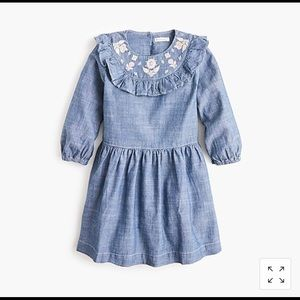 J.Crew Girls' Embroidered Chambray Dress